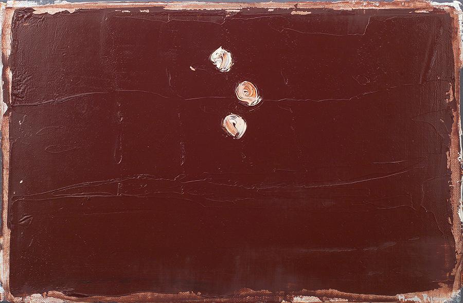 Terra de siena amb punts blancs, 2000