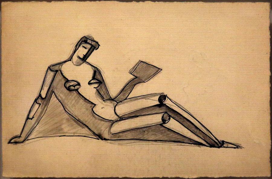 Femme assise lisant, 1935-39